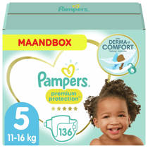 Pampers Premium Protection maandbox maat 5 (11-16 kg) 136 luiers