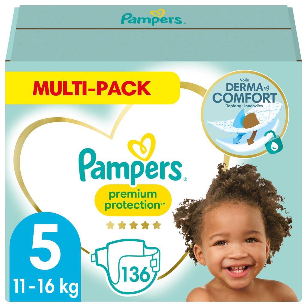 Pampers Premium Protection Maat 5 (11kg-16kg) 136 Luiers, 5 (11-16 kg)