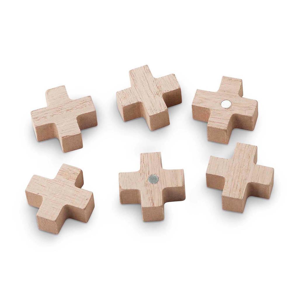 vtwonen magneten (set van 6), Naturel