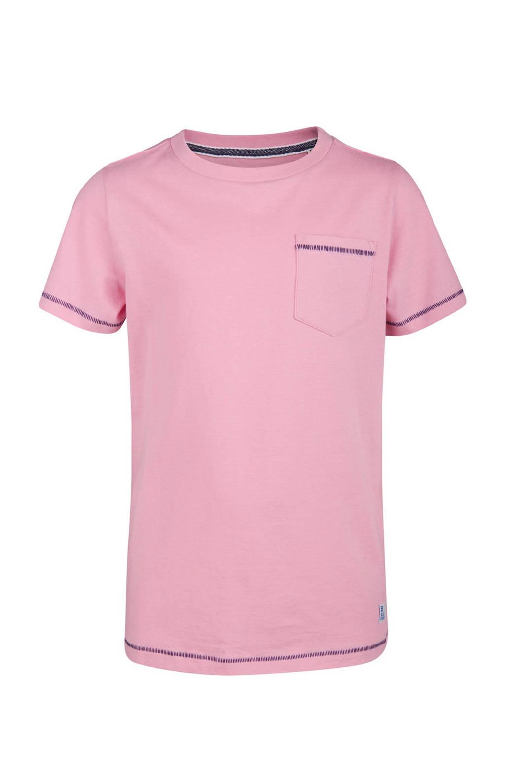 WE Fashion Blue Ridge T-shirt, Roze/blauw