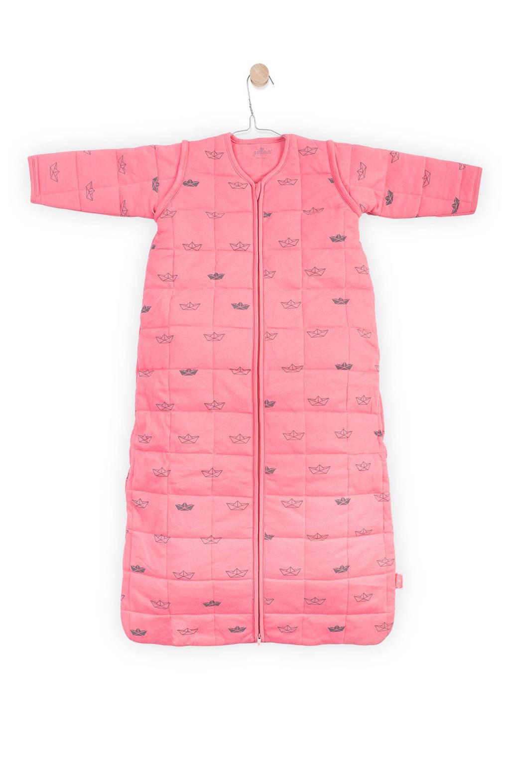 Jollein Little boats baby slaapzak 4-seizoenen 70 cm coral pink, Coral pink