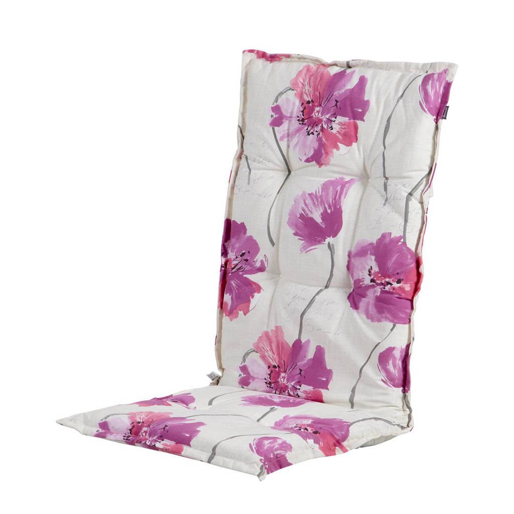 Hartman tuinkussen Blume (hoge rug, set van 2), Wit/roze