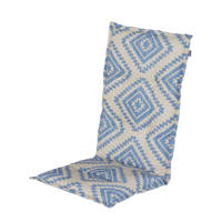 Hartman tuinkussen Bonita (hoge rug, set van 2), Blauw/zand