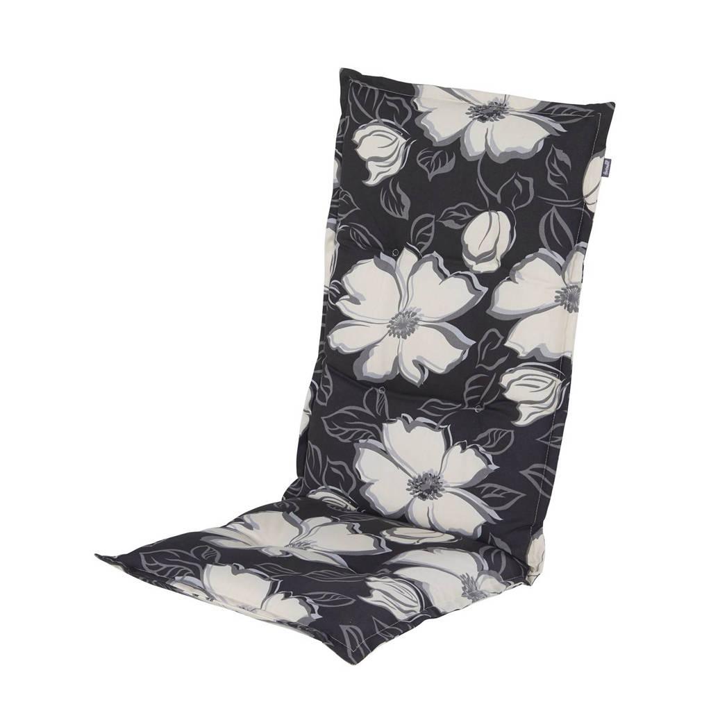 Hartman tuinkussen Rosa (hoge rug, set van 2), Zwart/wit