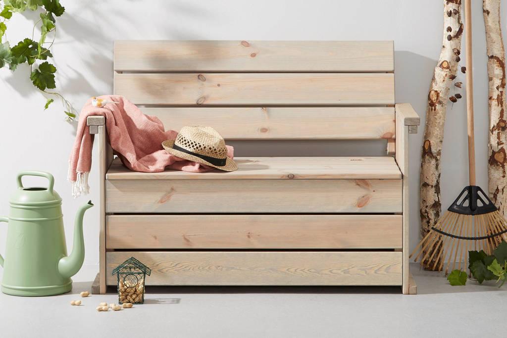 SenS-Line houten kofferbank Toulouse, Lichtgrijs