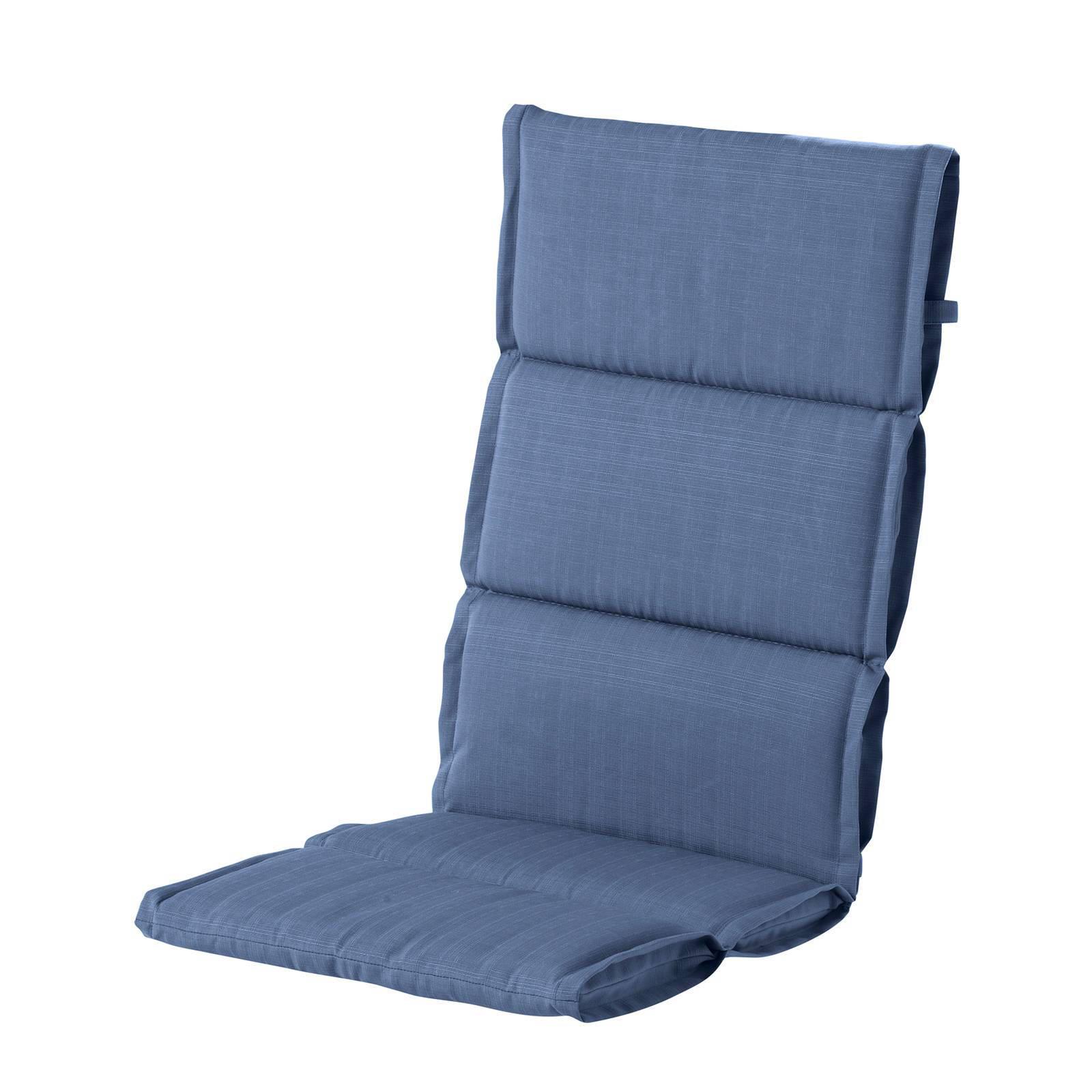 hartman tuinkussen casual sling hoge rug set van 2 blauw