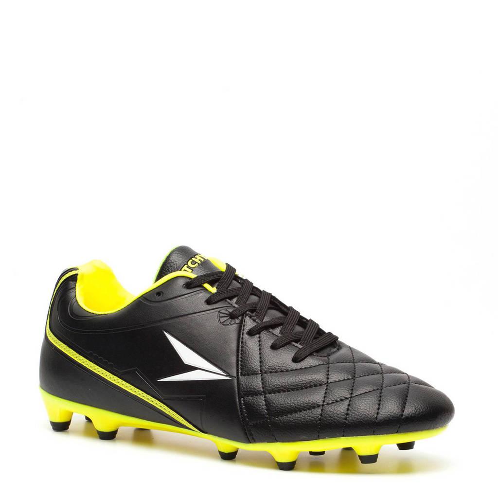 Scapino Dutchy Basic FG voetbalschoenen, Zwart/geel