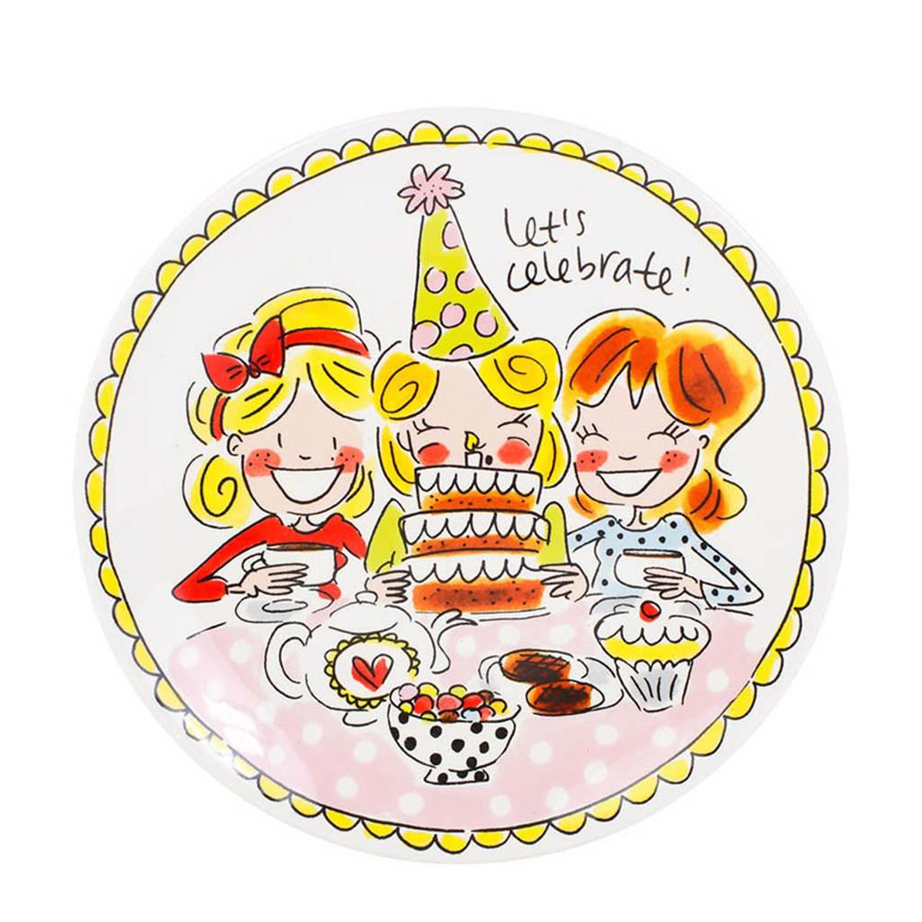Afbeelding Verjaardag Blond.Gebaksbord Even Bijkletsen O18 Cm