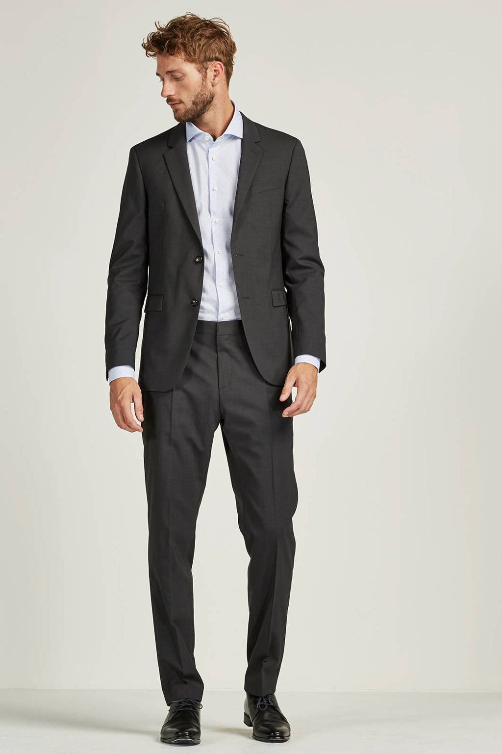 Tommy Hilfiger Tailored slim fit pantalon, Grijs