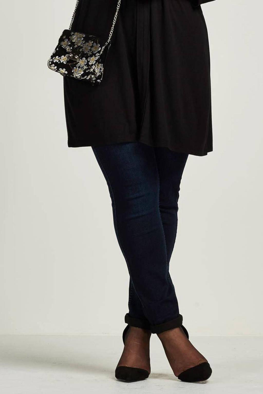 Yesta mide rise slim fit jeans Joyce, Donkerblauw