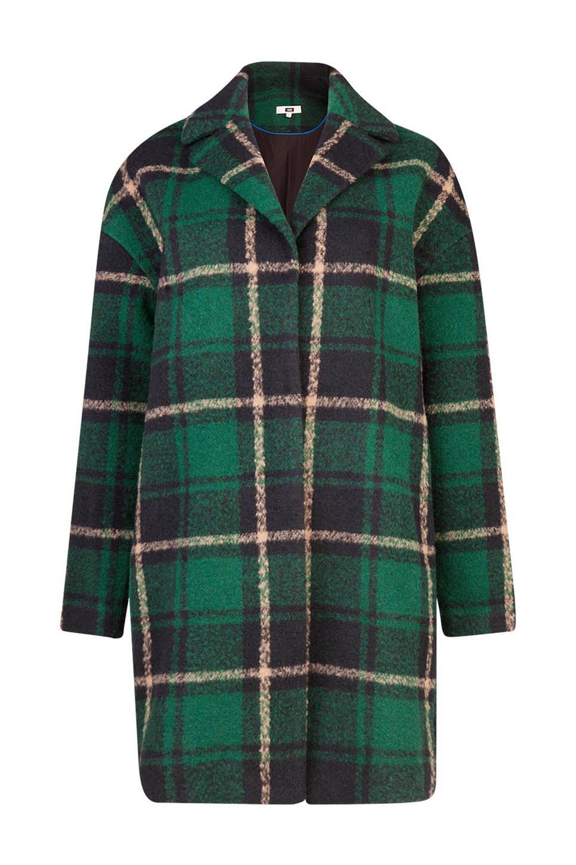WE Fashion coat met wol, Donkergroen