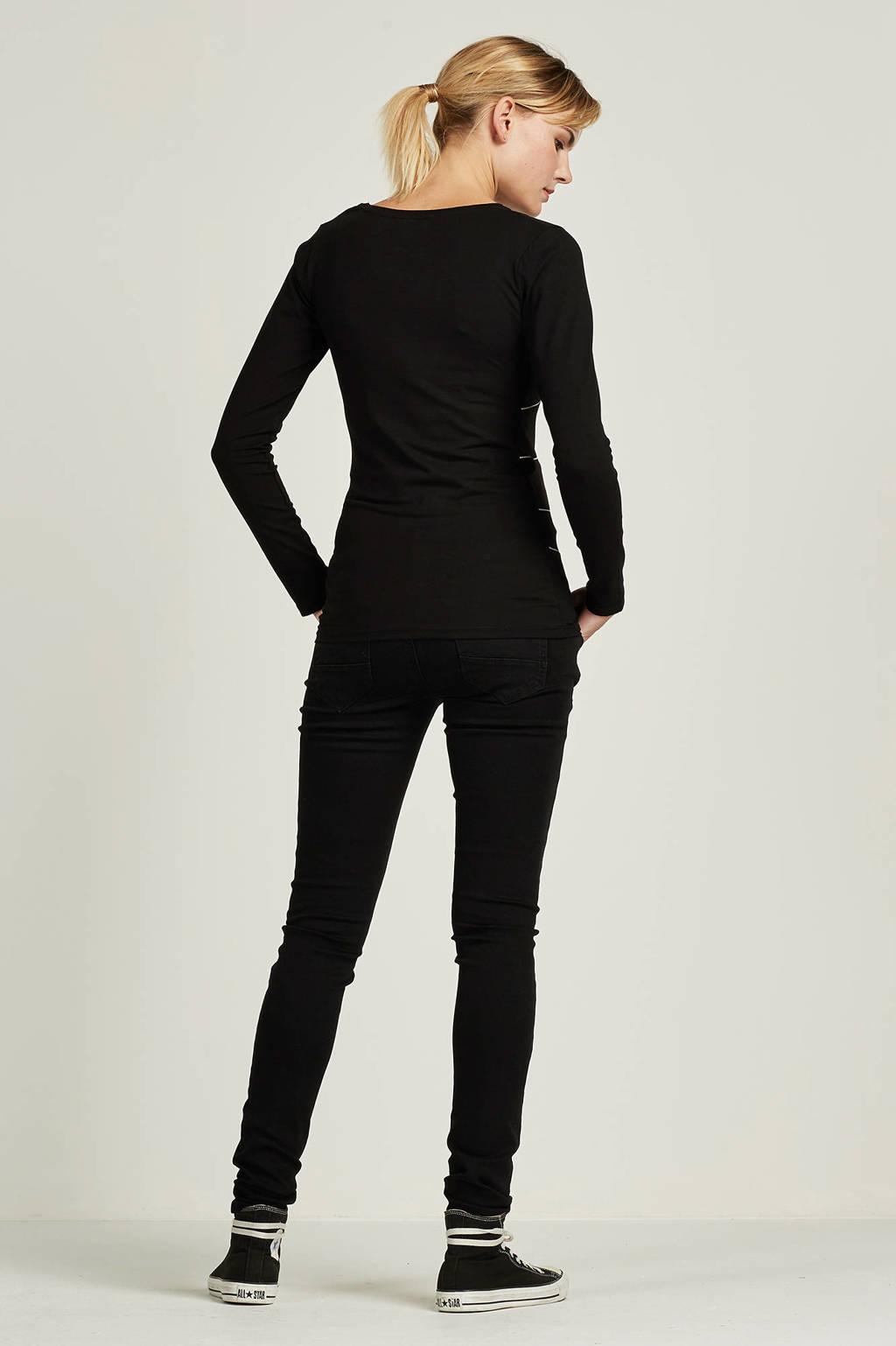 Noppies positie jeans skinny fit, Zwart