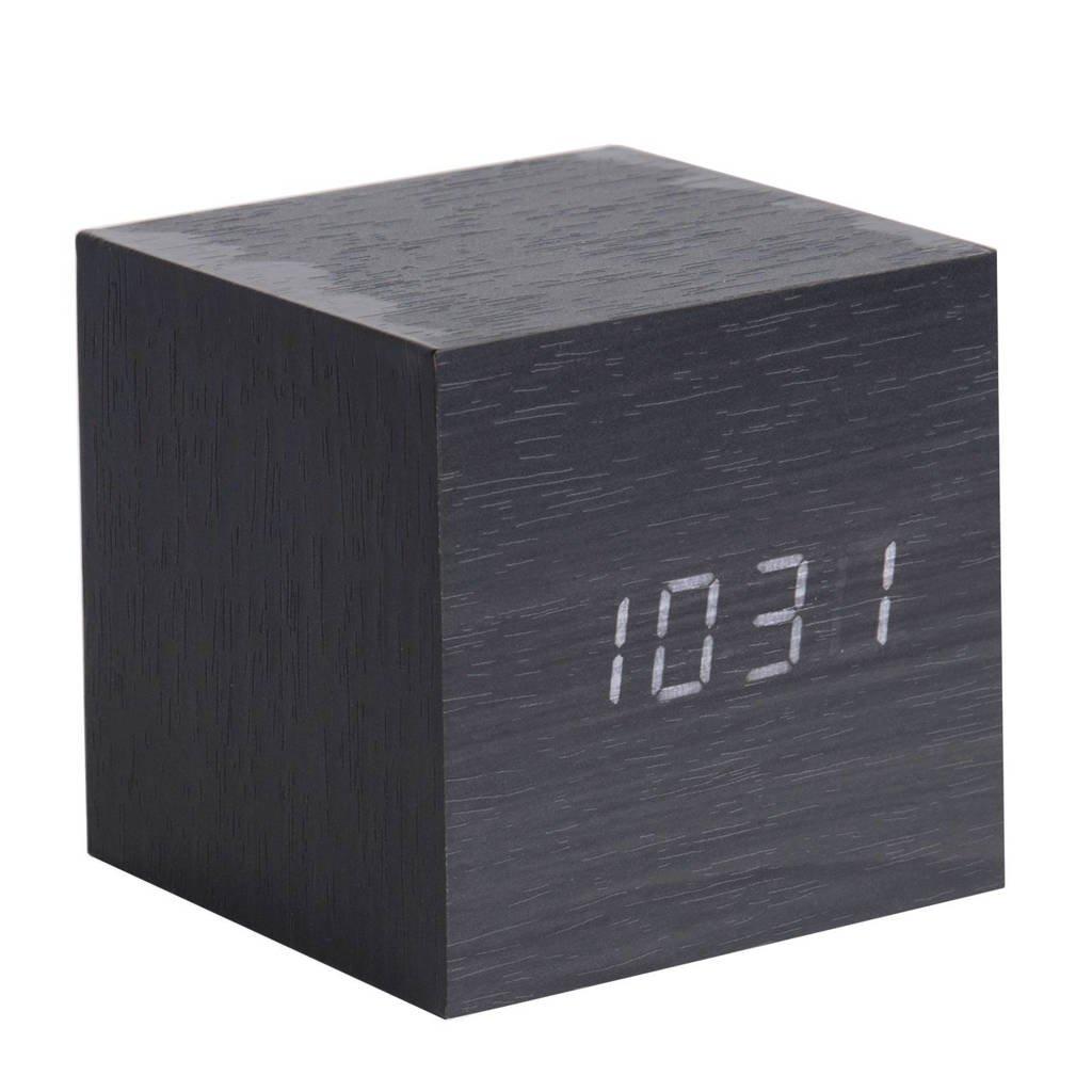Karlsson Klokken klok Mini Cube, Zwart