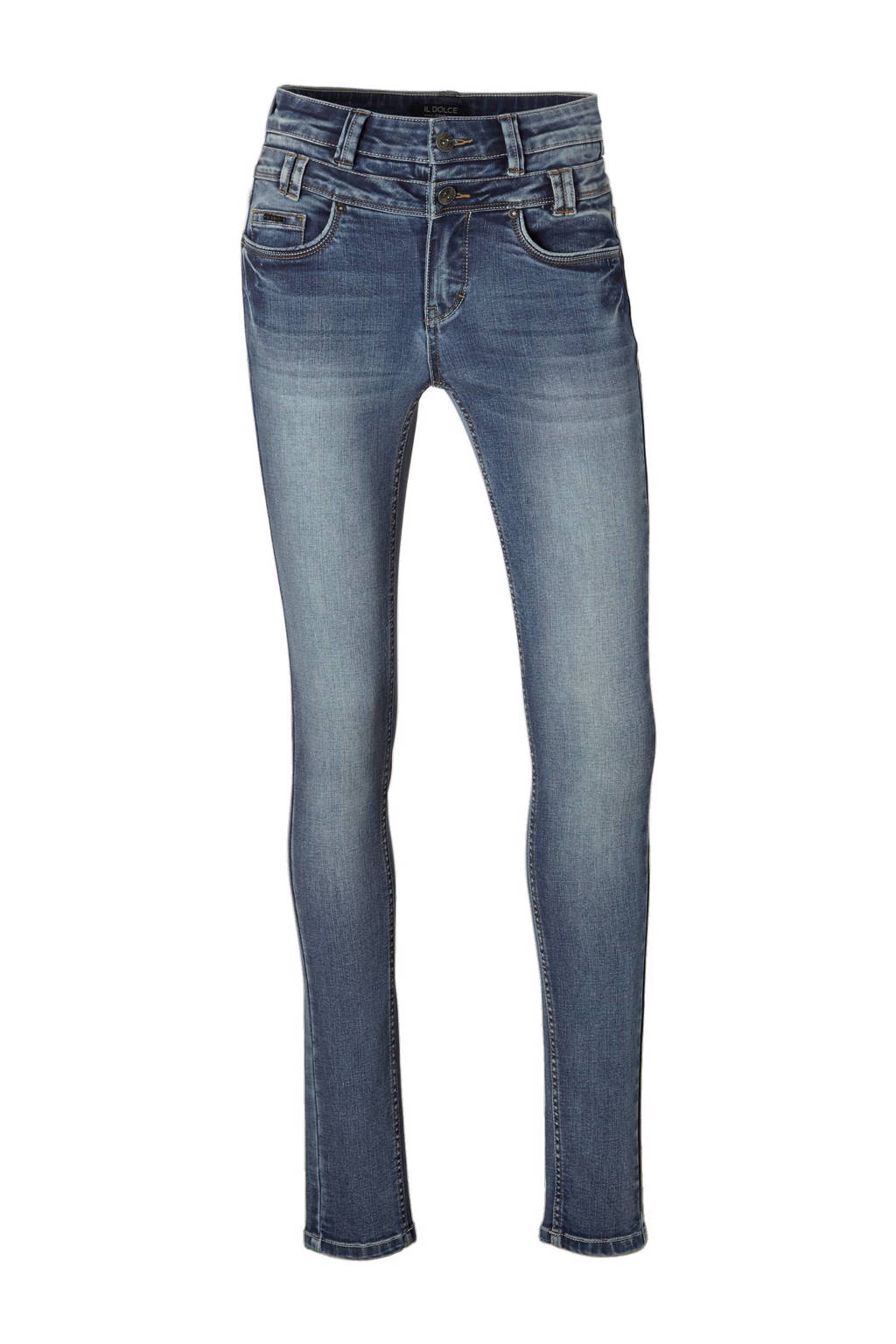 Il Dolce Ibiza high waist slim fit jeans, blue lake