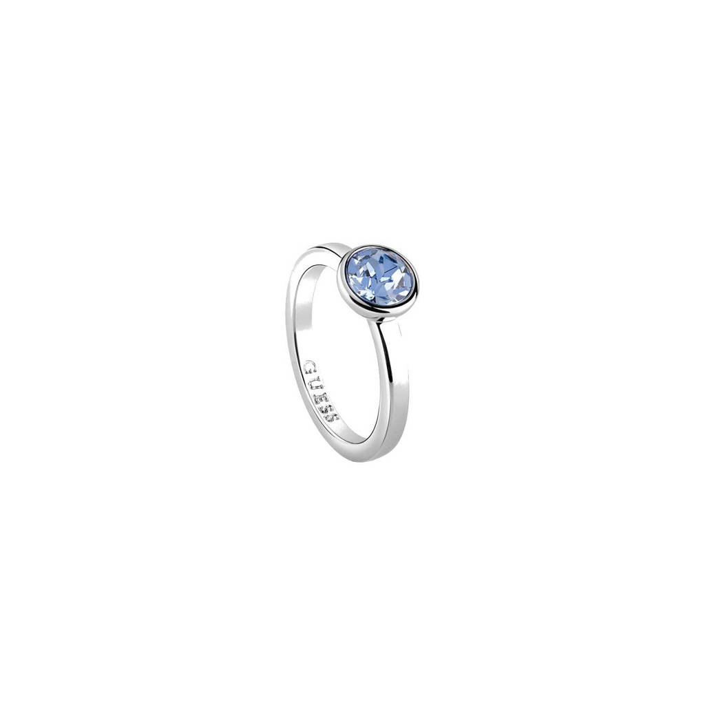 GUESS ring, Zilver/lichtblauw