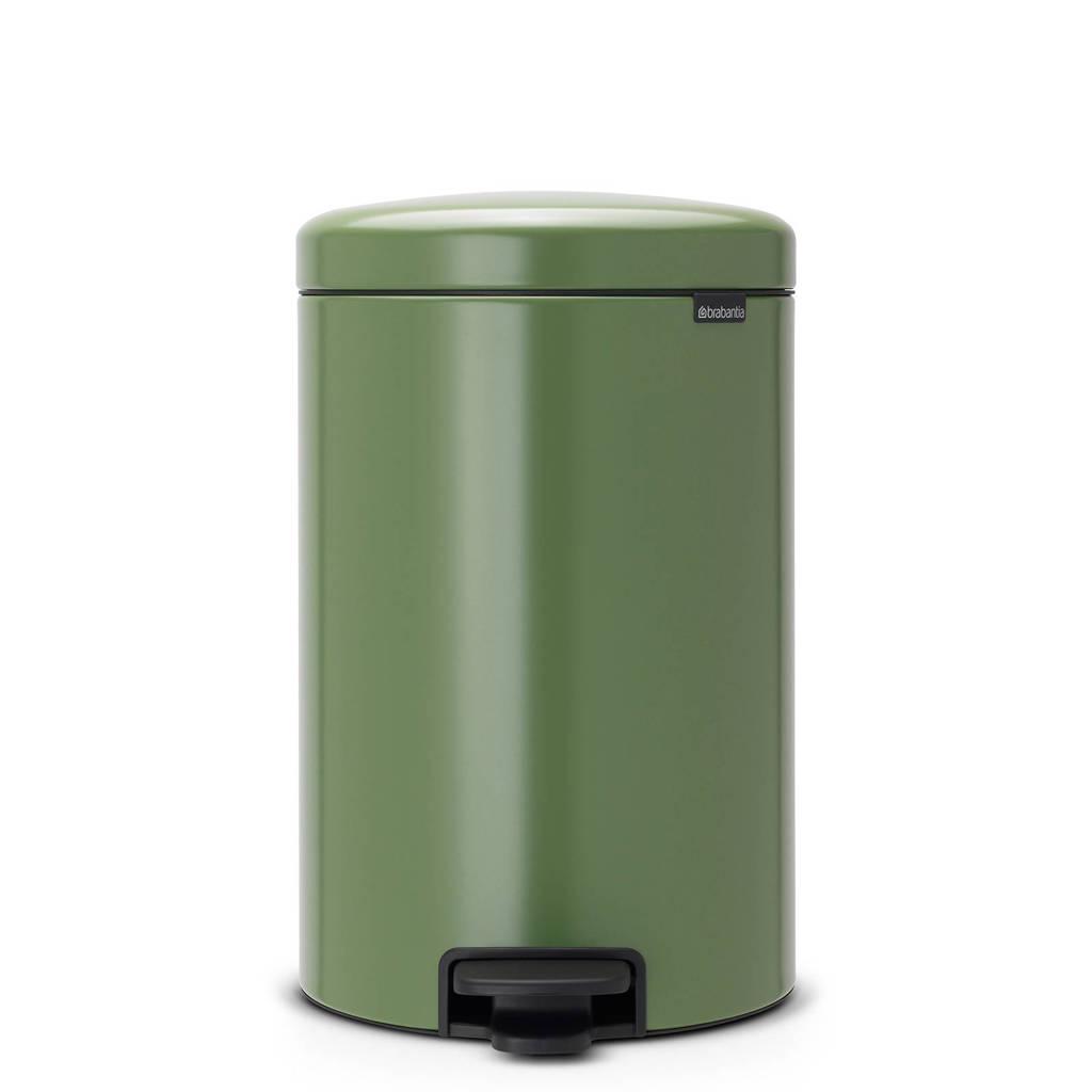 Brabantia newlcon pedaalemmer 20 liter met kunststof binnenemmer, Moss Green