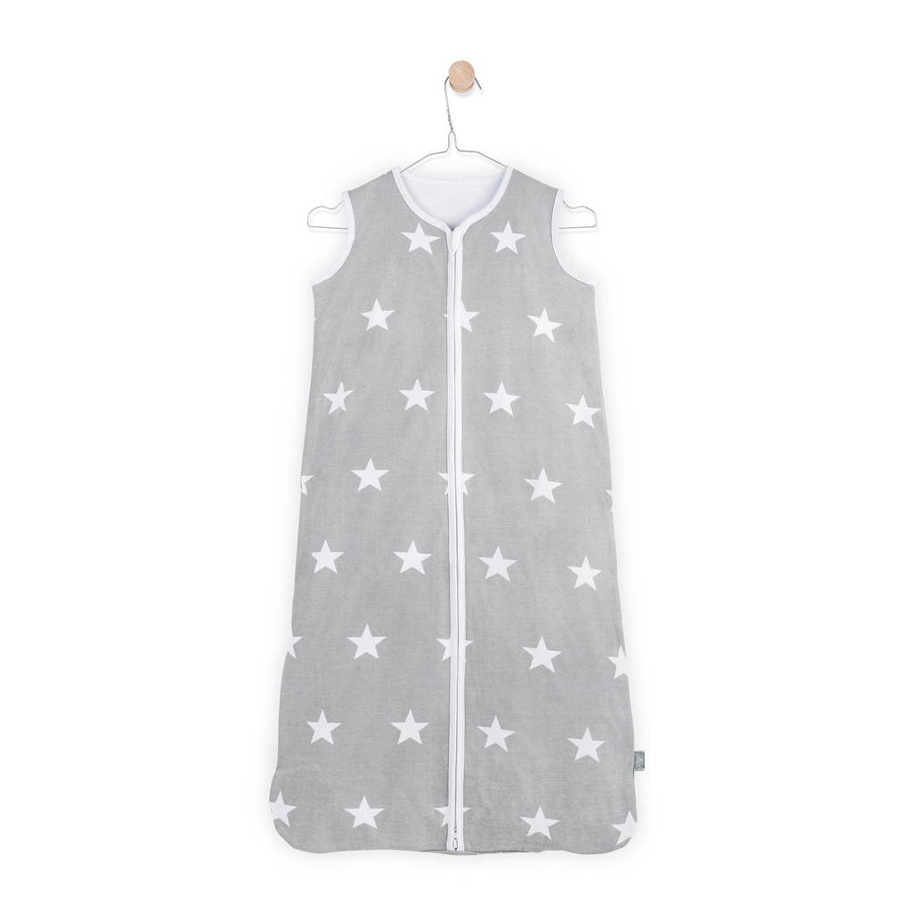 Jollein Little Star zomer baby slaapzak 6-18 mnd grijs, Grijs, 90