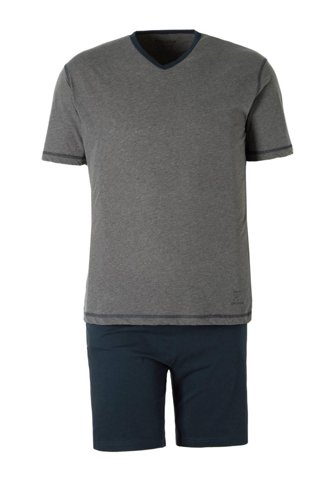 Ceceba +size shortama, Grijs/blauw