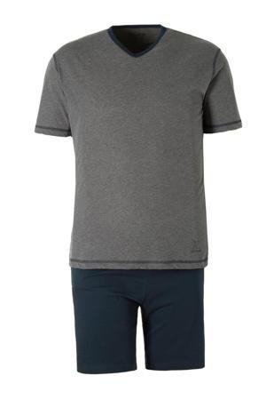 +size shortama grijs/blauw