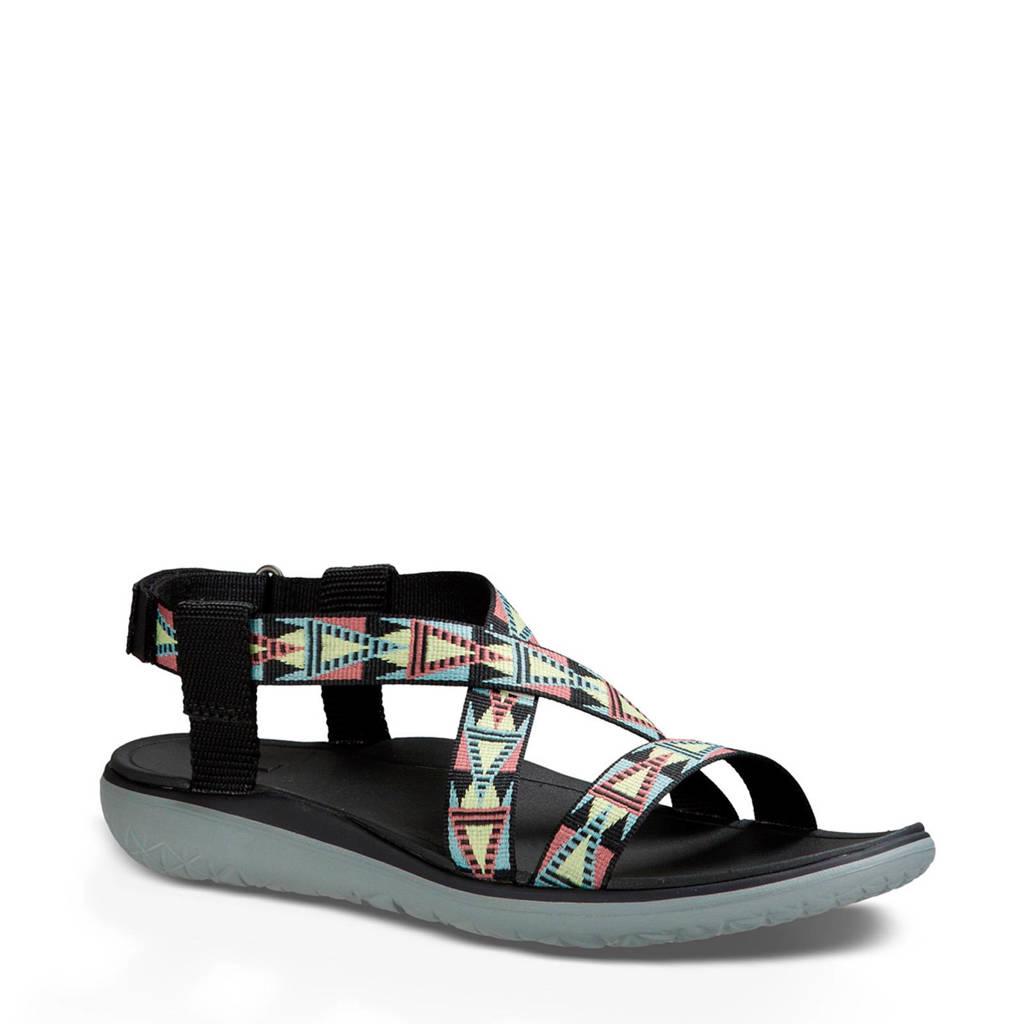Teva Terra  outdoor sandalen zwart, Groen/roze/geel