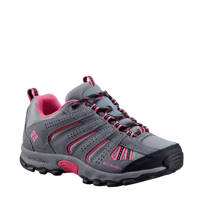 Columbia North Plain  outdoor wandelschoenen grijs/fuchsia kids, Grijs/roze