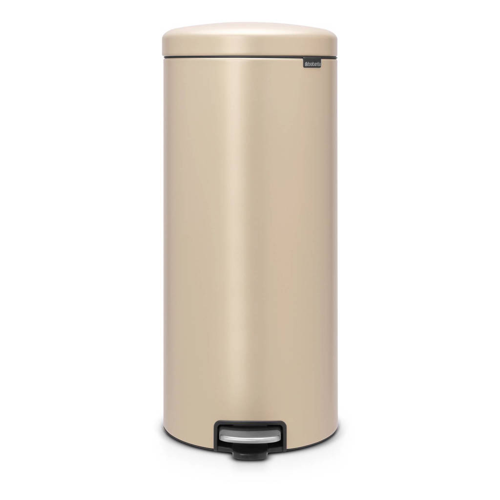 Brabantia newlcon Sense of Luxury pedaalemmer, 30 liter, Mineral Golden Beach