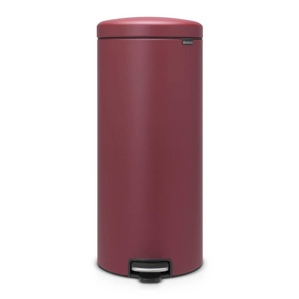 Brabantia newlcon Sense of Luxury pedaalemmer, 30 liter, Mineral Windsor Red