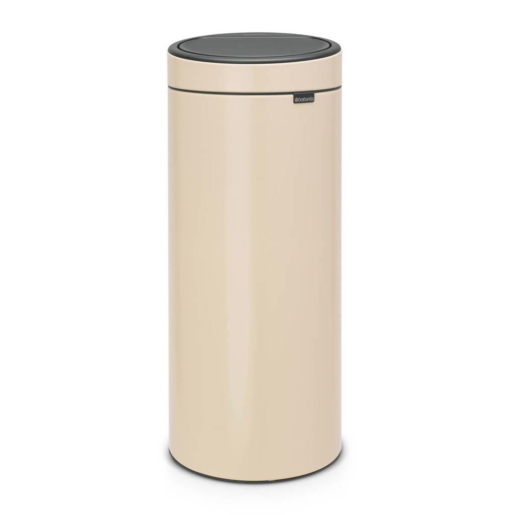 Brabantia Touch Bin 30 liter prullenbak, Almond, Metaal