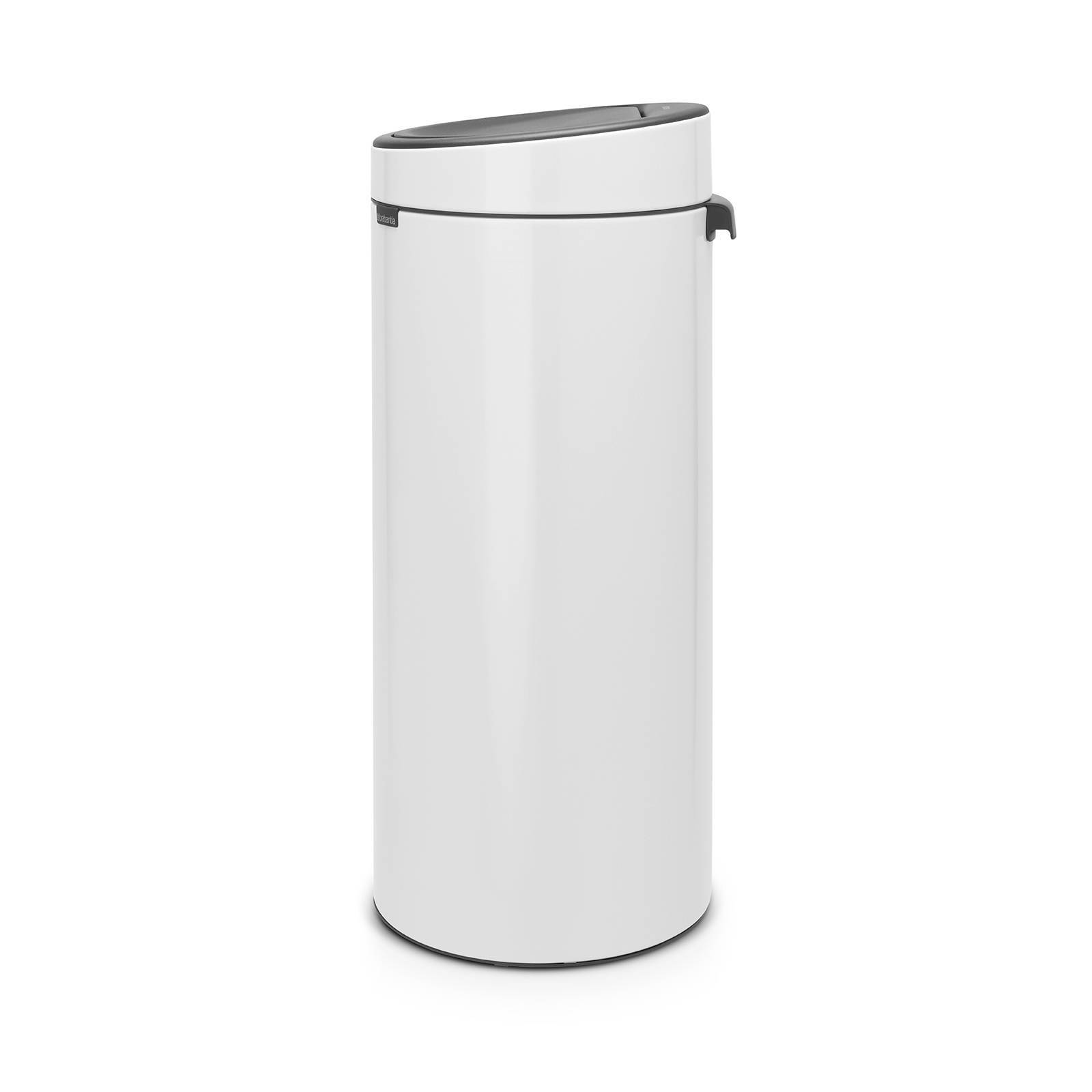 Brabantia Touch Bin 30 Liter Wit.Touch Bin 30 Liter Prullenbak