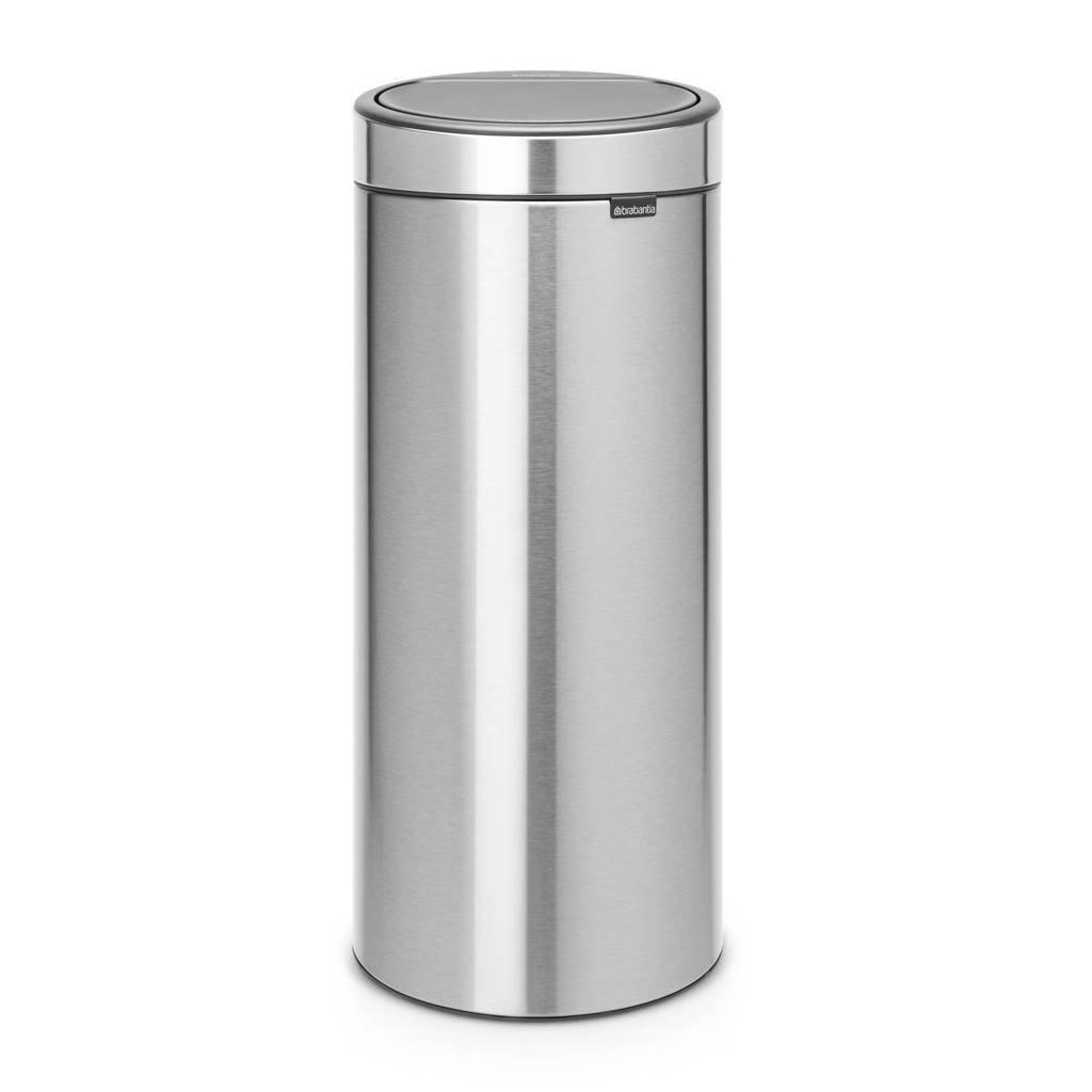 Brabantia Touch Bin Mat Rvs.Brabantia Touch Bin 30 Liter Prullenbak Wehkamp