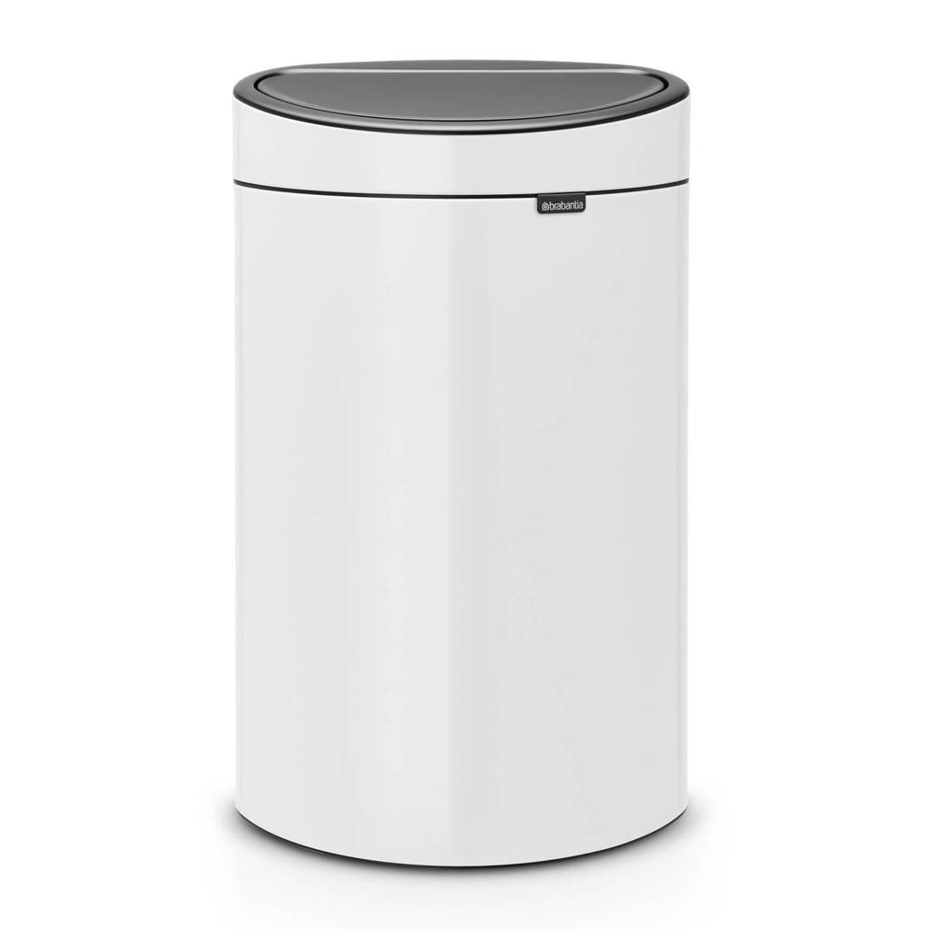 Brabantia Touch Bin 40 liter prullenbak, White