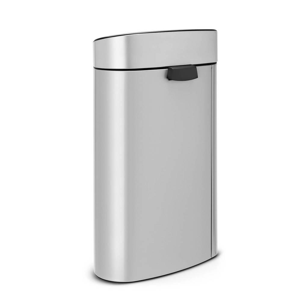 Garantie Brabantia Touch Bin 40 Liter.Brabantia Touch Bin 40 Liter Prullenbak Wehkamp