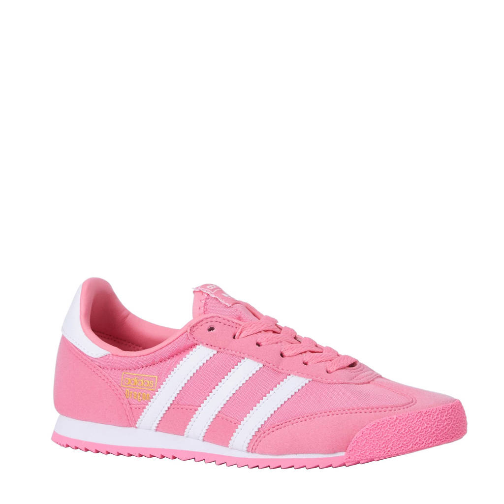 ed5804ba9e1 adidas originals Dragon OG J sneakers, Roze/wit