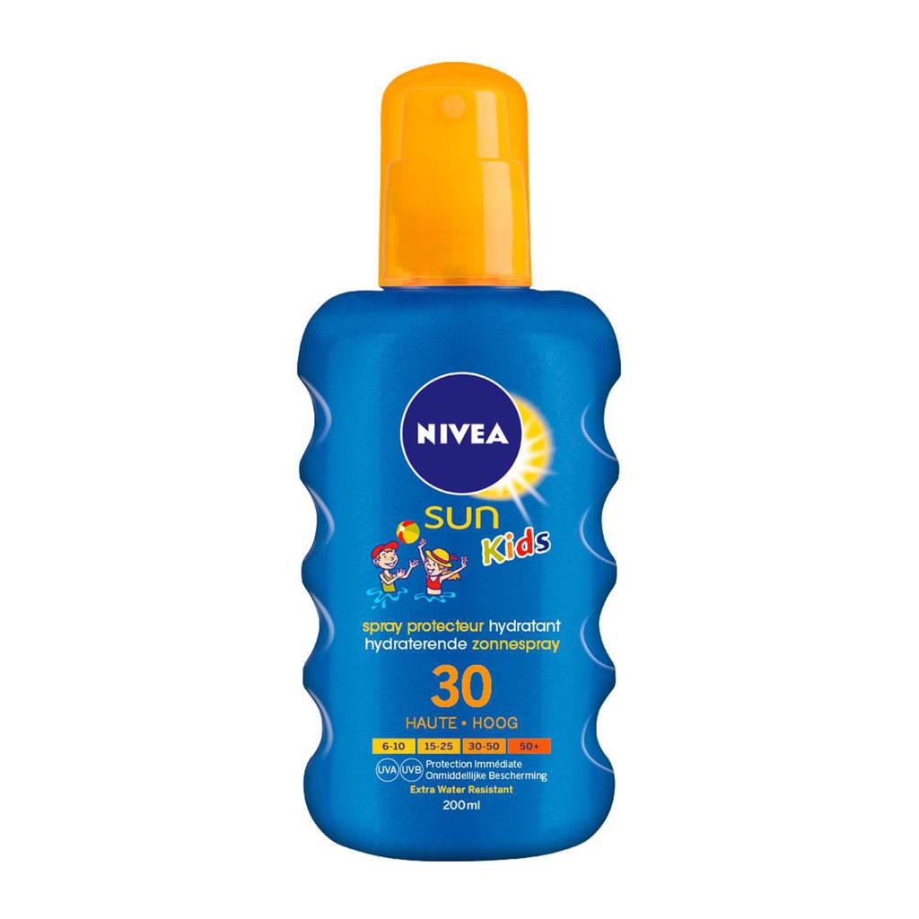NIVEA SUN Kids Hydraterende Zonnespray SPF30 - 200 ml, Zonnefactor SPF 30