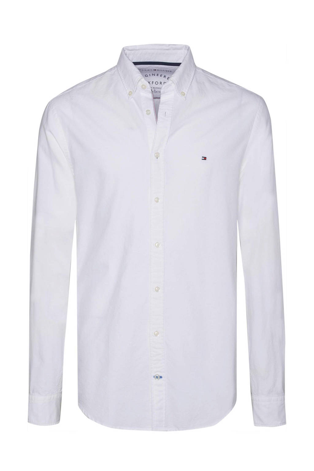 Wit Overhemd Heren.Tommy Hilfiger Oxford Regular Fit Overhemd Wehkamp
