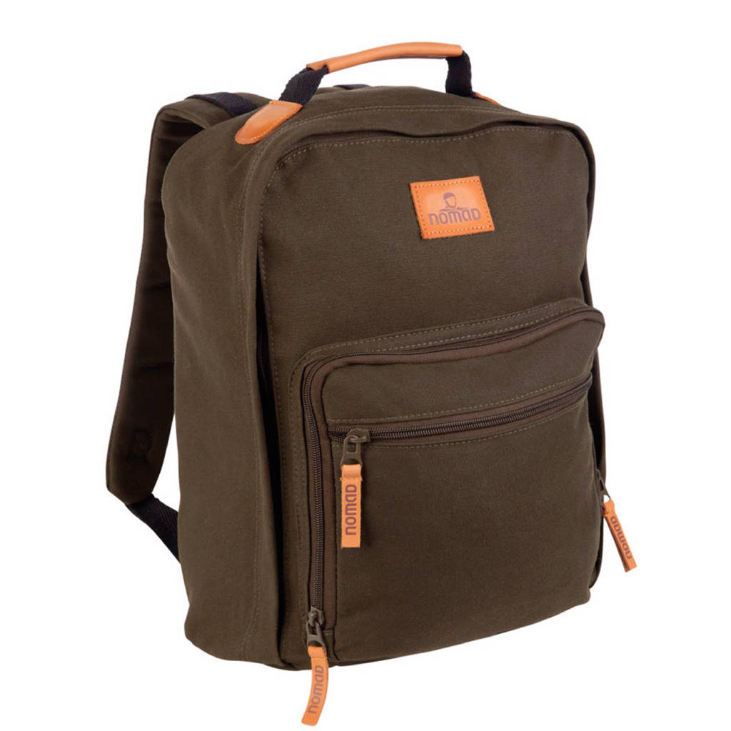 Nomad   College Classic rugzak 20 L, Donkergroen