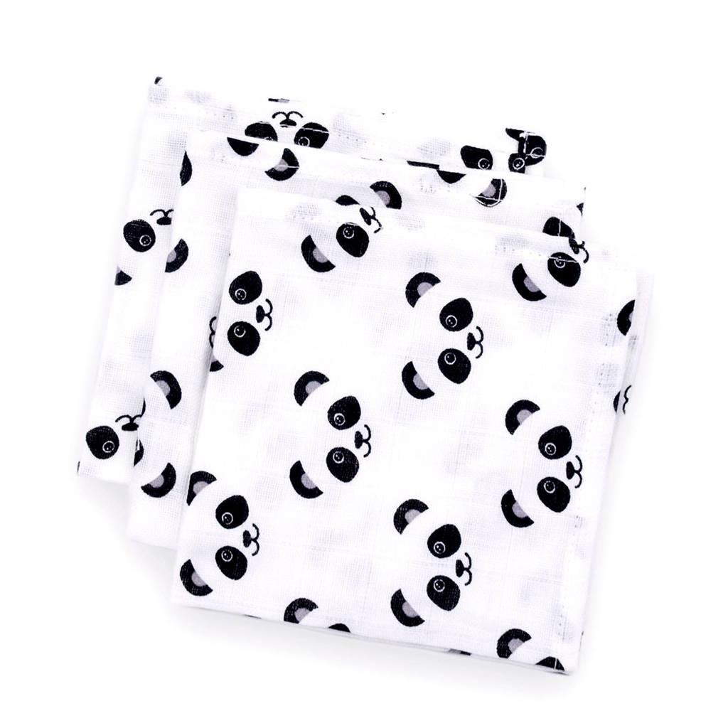 Fabs World Panda dreams hydrofiele monddoekjes 30x30 cm (3 stuks)