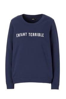 katoenen sweater met print
