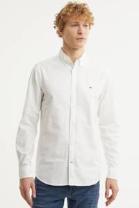 Tommy Hilfiger slim fit stretch oxford overhemd, Wit
