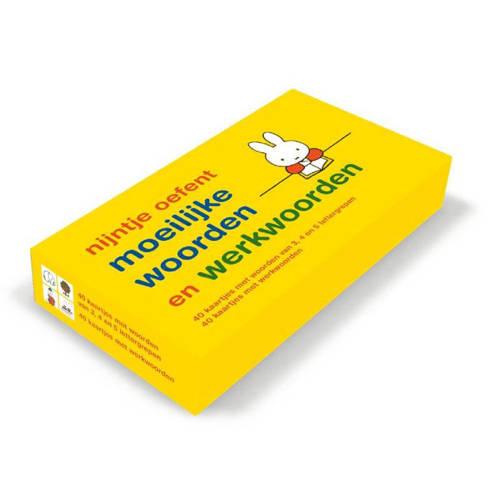 oefenkaartjes nijntje oefent moeilijke woorden. 40 kaartjes met woorden van 3,4 en 5 lettergrepen pl