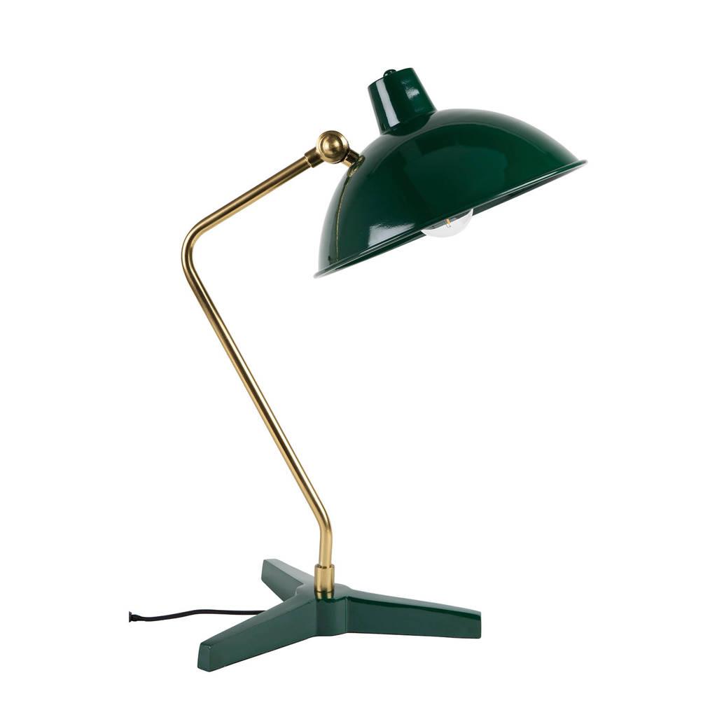 Dutchbone Devi bureaulamp, Groen, goud