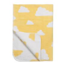 Little Clouds wiegdeken 75x100 cm geel