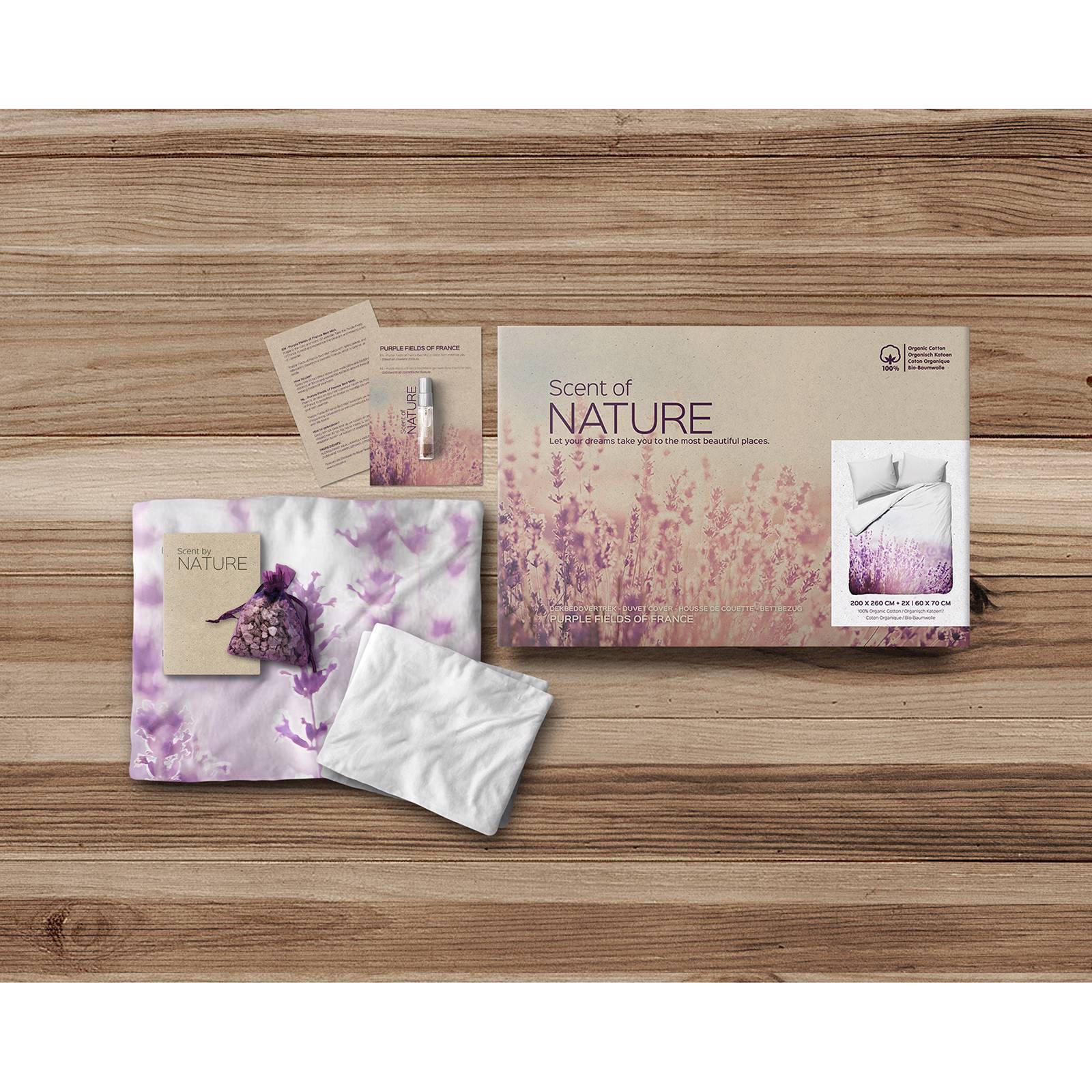 scent of nature biologisch katoen dekbedovertrek 1 persoons paars