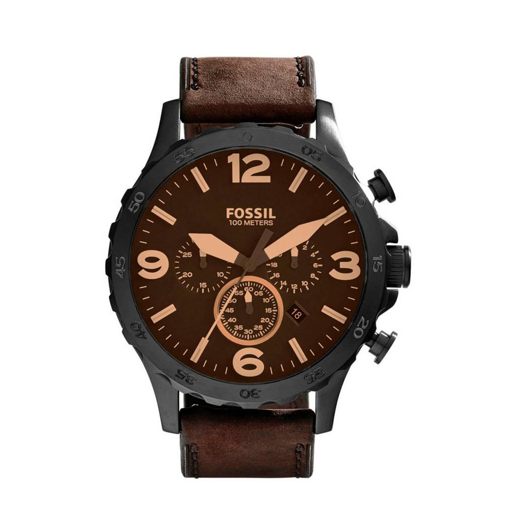 Fossil Nate Heren Horloge JR1487, Zwart
