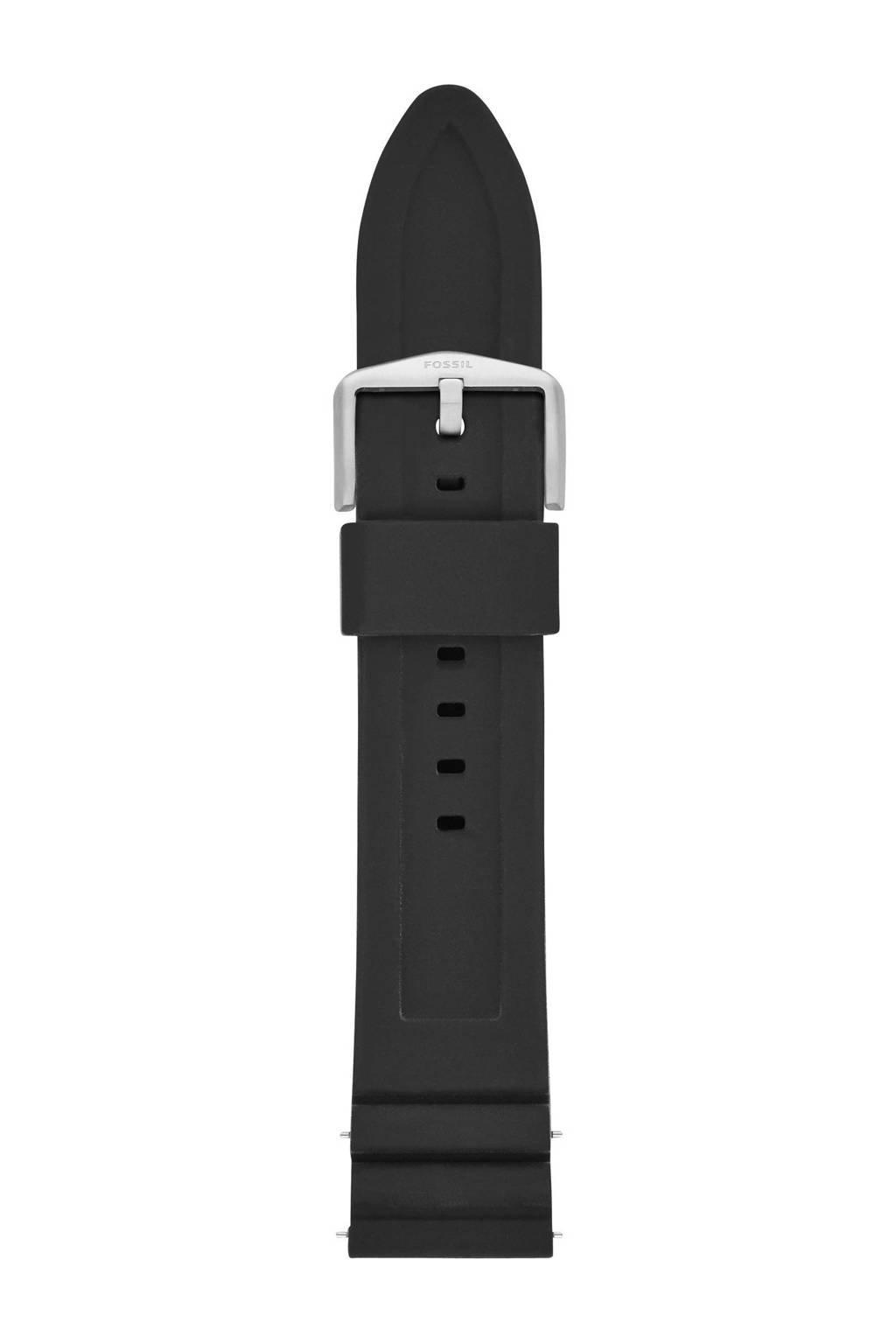 Fossil Q silicone horlogeband, Zwart