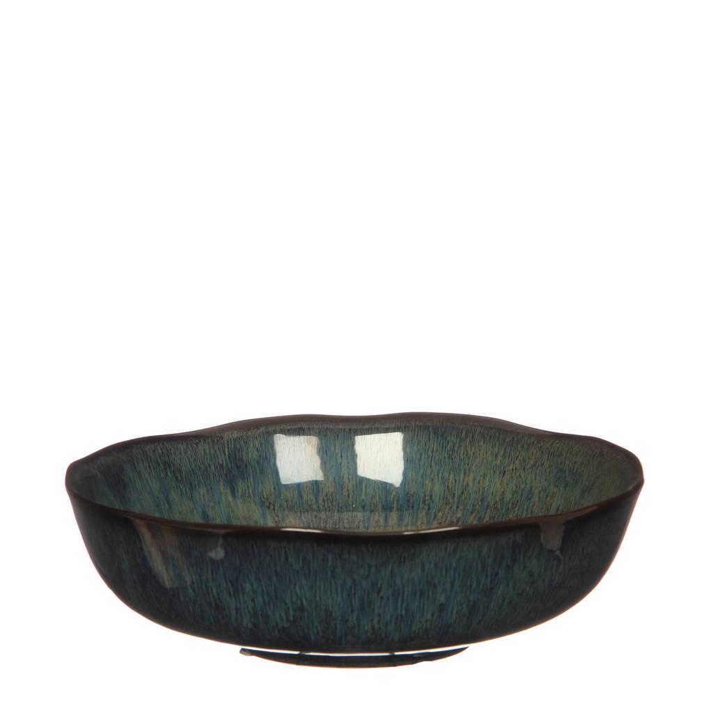 Casa Vivante schaal (Ø26,5 cm), Blauw/groen