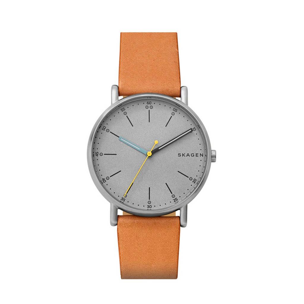 Skagen Signatur Heren Horloge SKW6373, Zilverkleurig