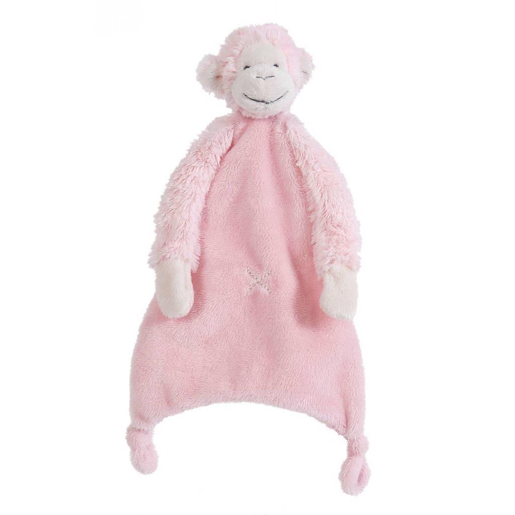 Happy Horse aap Mickey knuffeldoekje, Pink