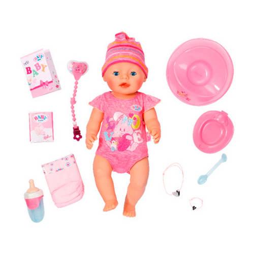 BABY born interactieve pop met 9 functies roze