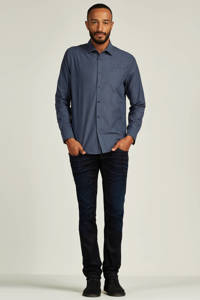 PME Legend regular fit overhemd, Donkerblauw